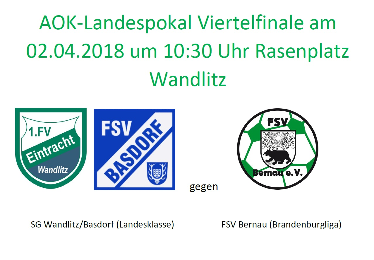 20180317 Einladung AOK-Landespokal Viertelfinale A-Junioren