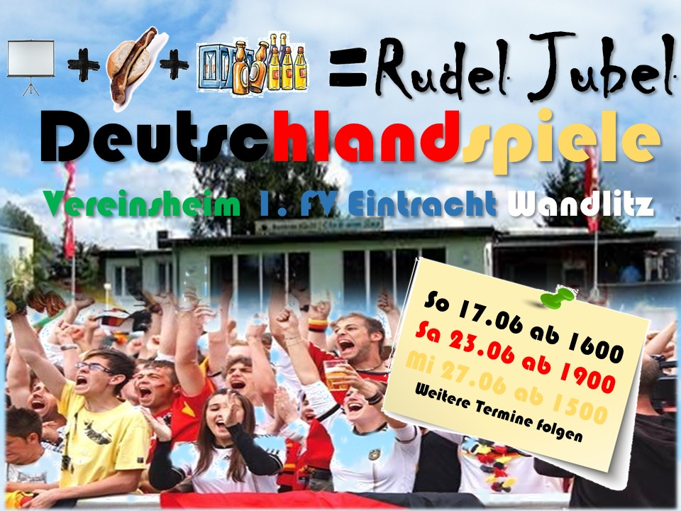 Public Viewing im Vereinsheim