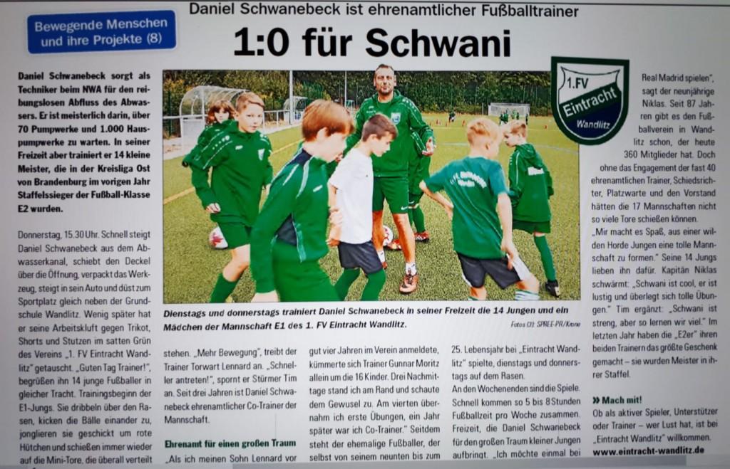 Eintracht Wandlitz in den Medien