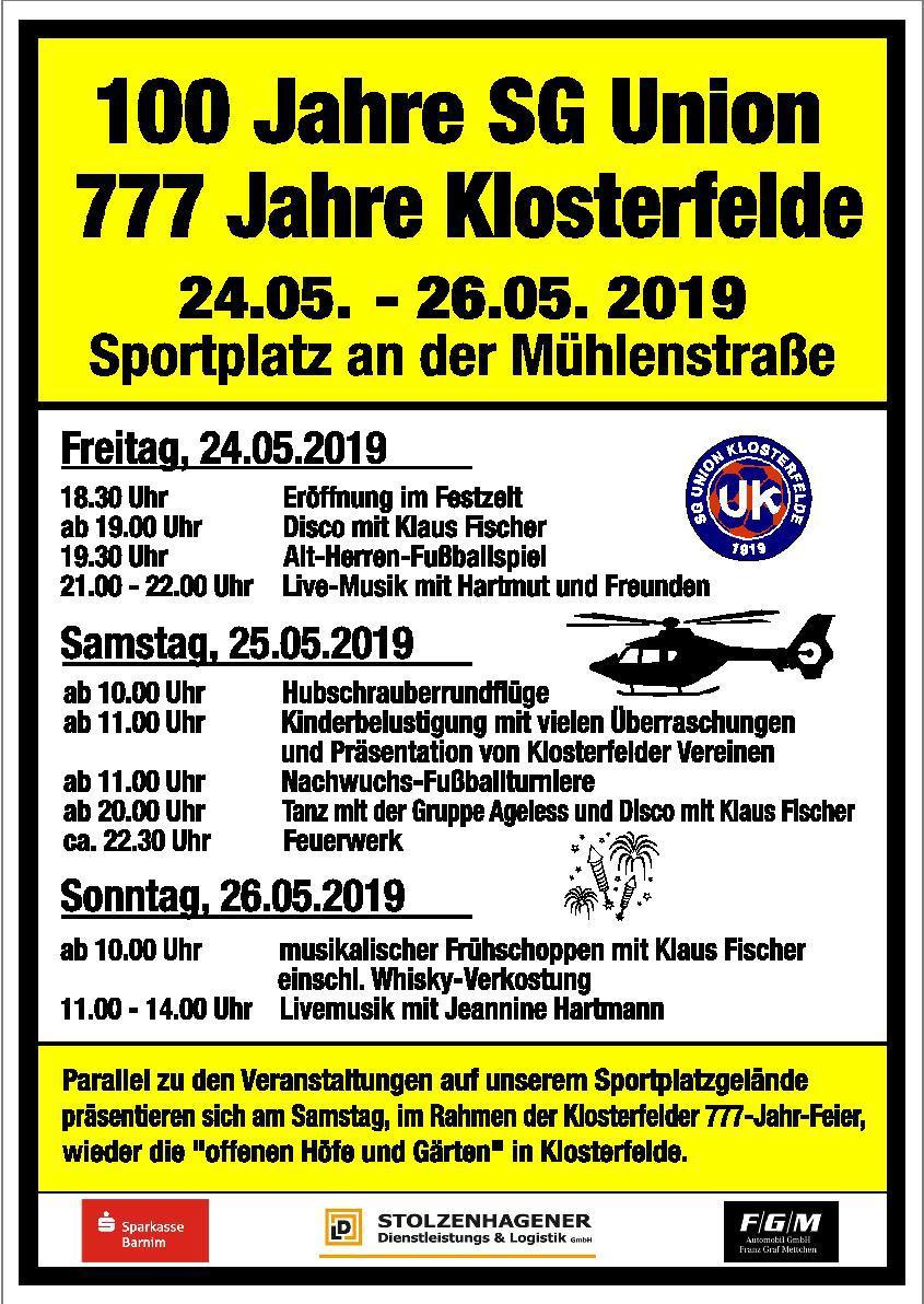 100 Jahrfeier Klosterfelde